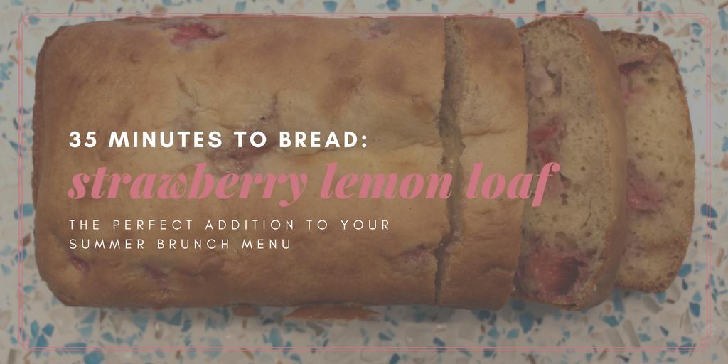 Strawberry Lemon Quick Bread